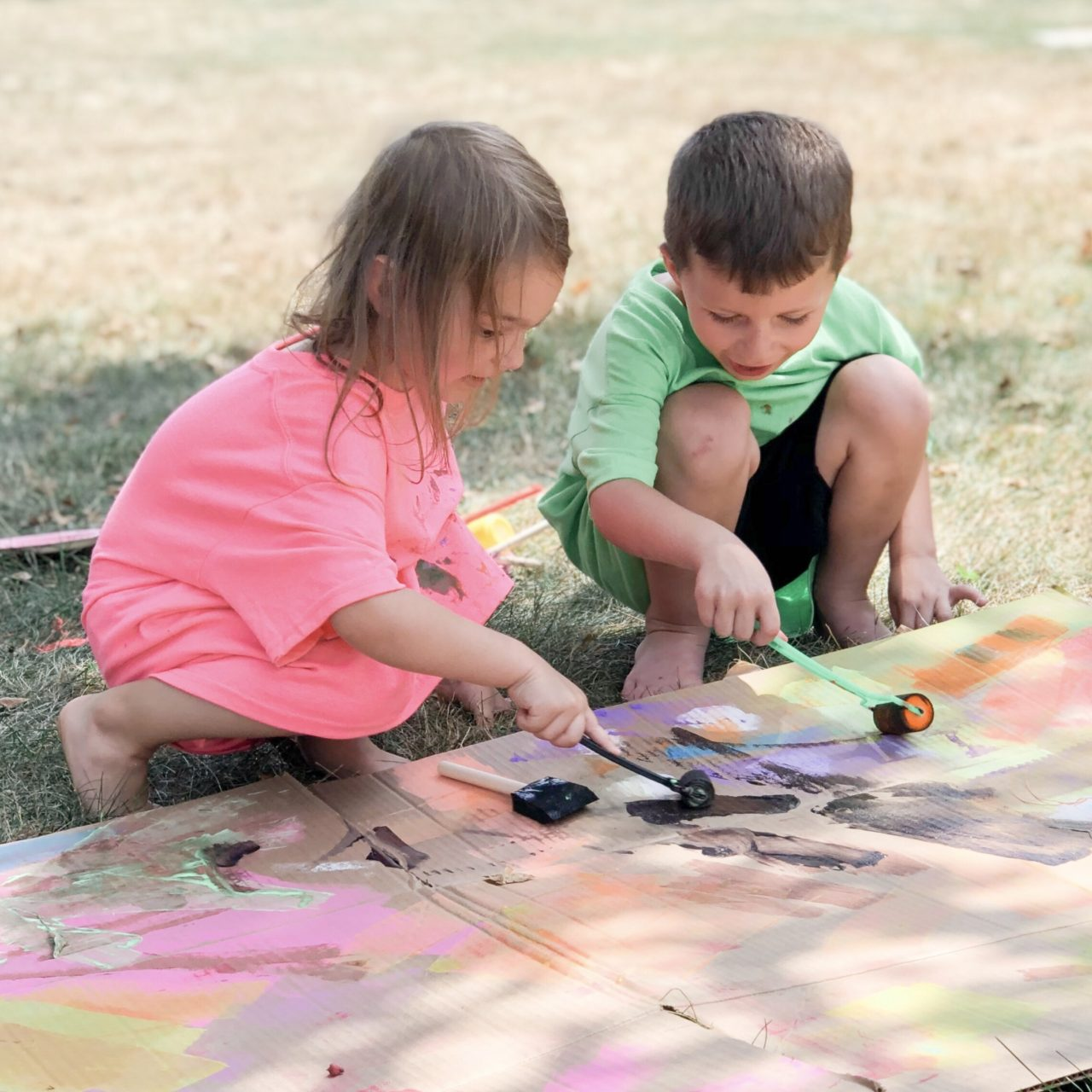 Cardboard Box Painting Project