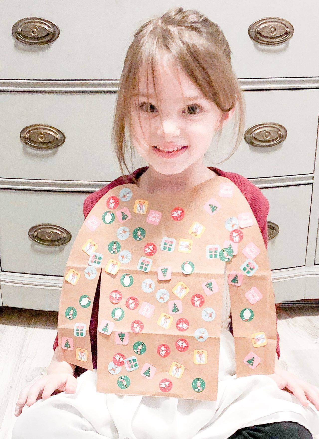 Paper Bag Holiday Sweater Craft
