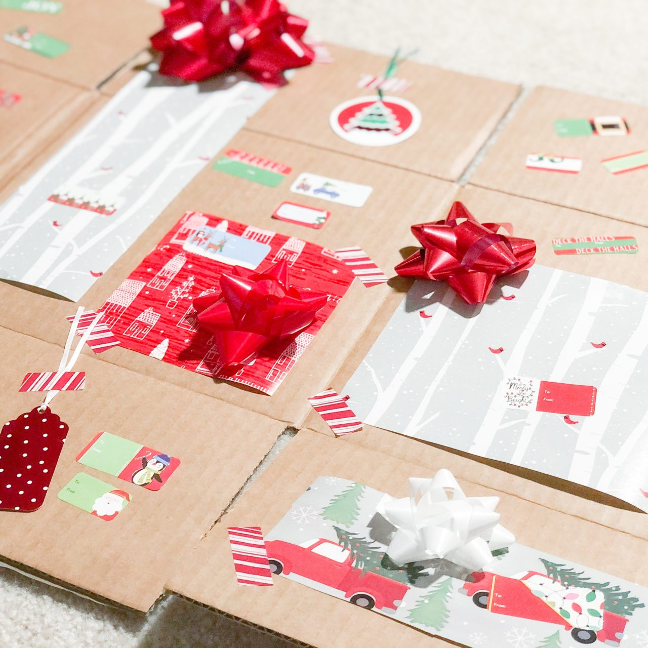 Wrapping Paper Activity Board